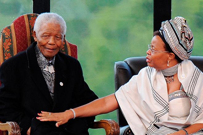 Нельсон Мандела с женой