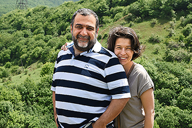 Рубен Варданян и его жена