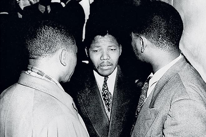 Нельсон Мандела с соратниками