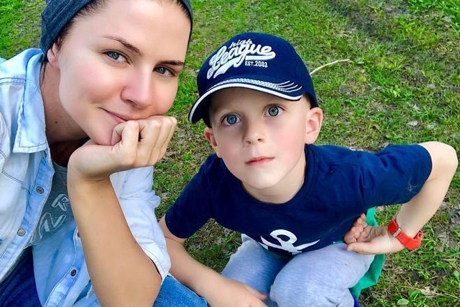 Натали Старынкевич с племянником
