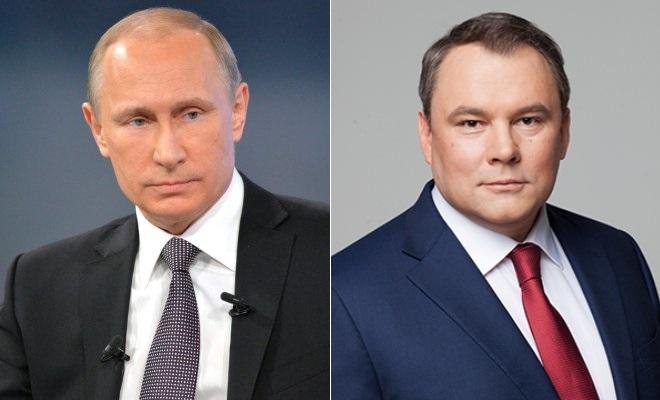Владимир Путин и Петр Толстой