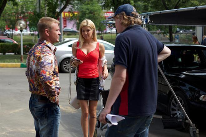 Оксана Сидоренко на съемках сериала