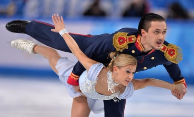 Татьяна Волосожар и Максим Траньков на льду