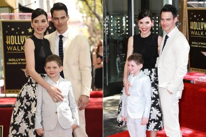 Джулианна Маргулис с мужем и сыном