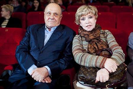 Владимир Меньшов с женой Верой Алентовой