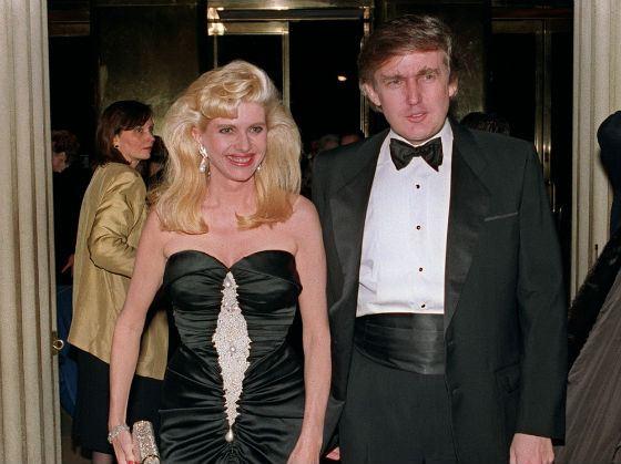 Дональд Трамп с первой женой Иванкой