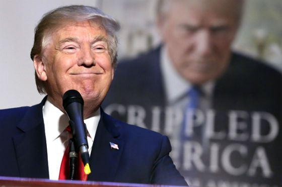 Фото с презентации книги Дональда Трампа «Изувеченная Америка»
