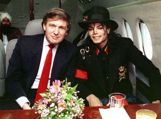 Дональд Трамп и Майкл Джексон