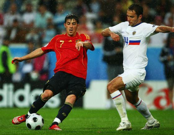 Роман Широков на Чемпионате Мира 2008, первый матч с Испанией
