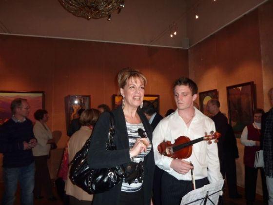 Любовь Казарновская с сыном Андреем