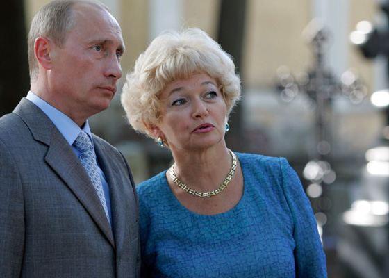 Людмила Нарусова и Владимир Путин