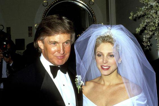 Свадьба Дональда Трампа и Марлы Мэйплз, 1993 год