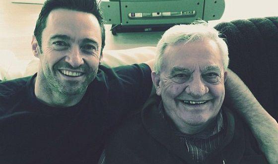 На фото: Хью Джекман с отцом