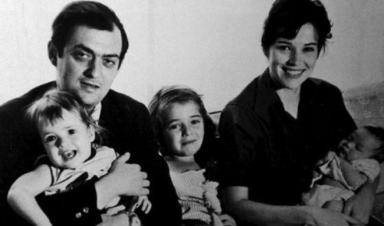 Стэнли Кубрик с женой Кристина и детьми