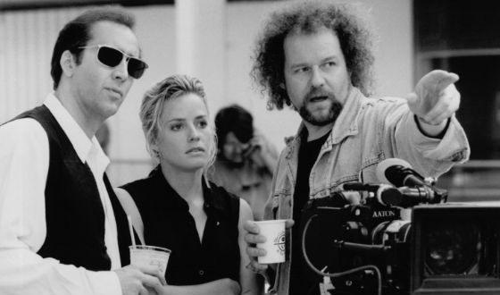 Фото со съемок драмы «Покидая Лас-Вегас»