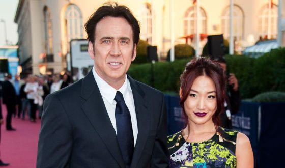 Николас Кейдж и его третья жена Элис Ким